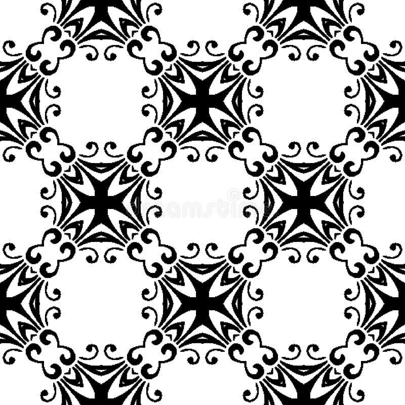 Modelo de la repetición e imagen blancos y negros del vector libre illustration