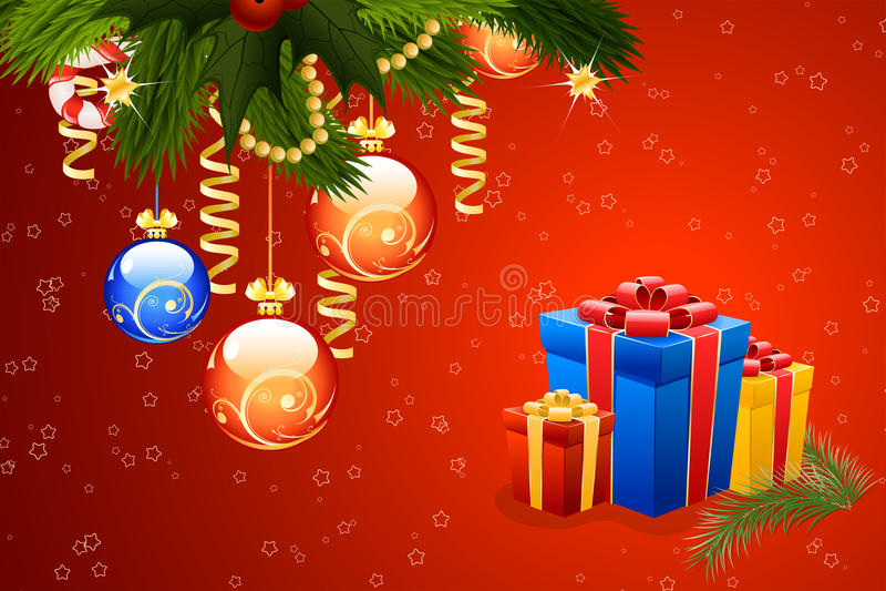 Modelo de la tarjeta de Navidad libre illustration
