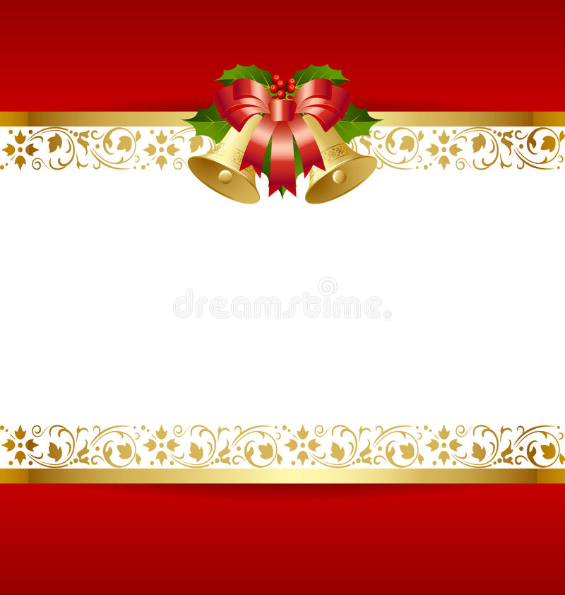 Modelo de la tarjeta de Navidad ilustración del vector
