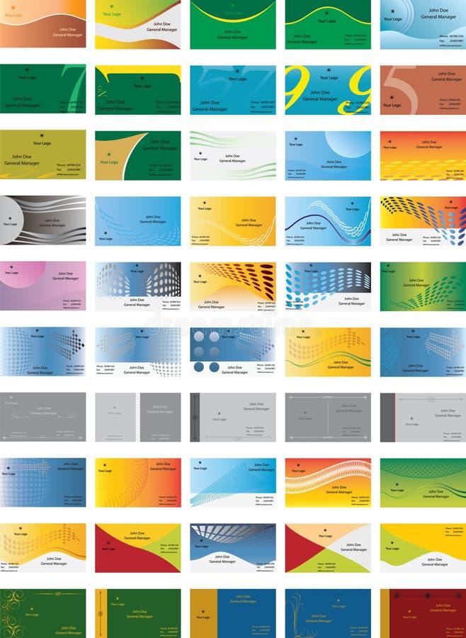 Modelo de la tarjeta de visita fotos de archivo libres de regalías
