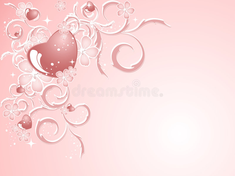 Download Modelo De La Tarjeta Del Día De San Valentín Ilustración del Vector - Ilustración de romance, fondo: 7286311