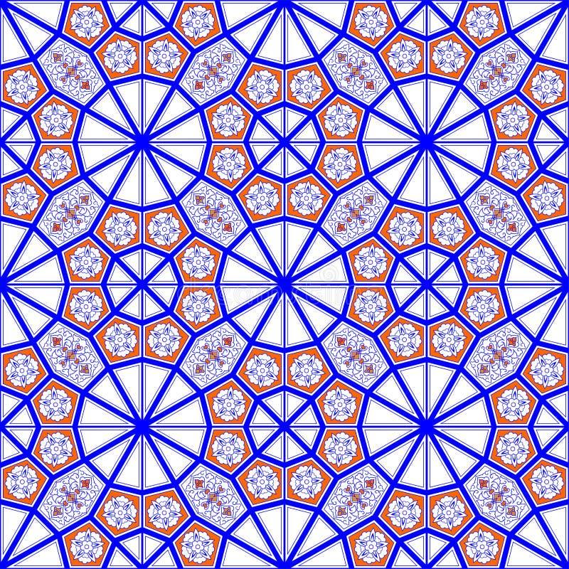 Modelo de la teja de mosaico stock de ilustración