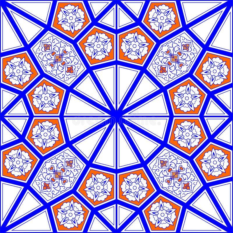 Modelo de la teja de mosaico ilustración del vector