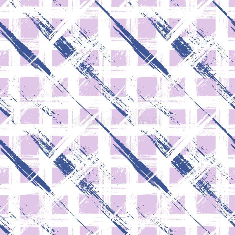 Modelo de la tela escocesa con pinceladas amplias y rayas stock de ilustración