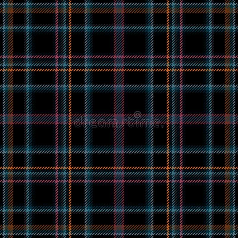 Modelo de la tela y tartán escoceses de la tela escocesa, control inconsútil stock de ilustración