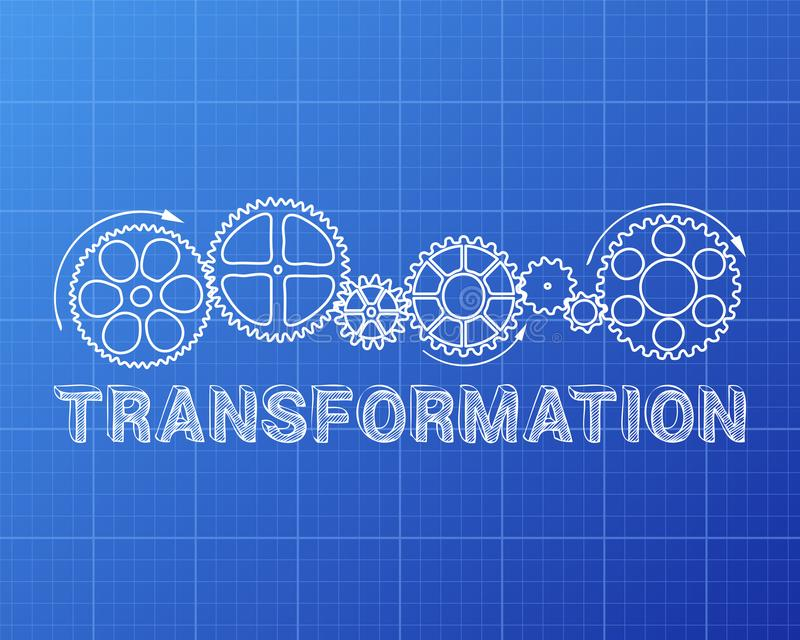 Modelo de la transformación libre illustration