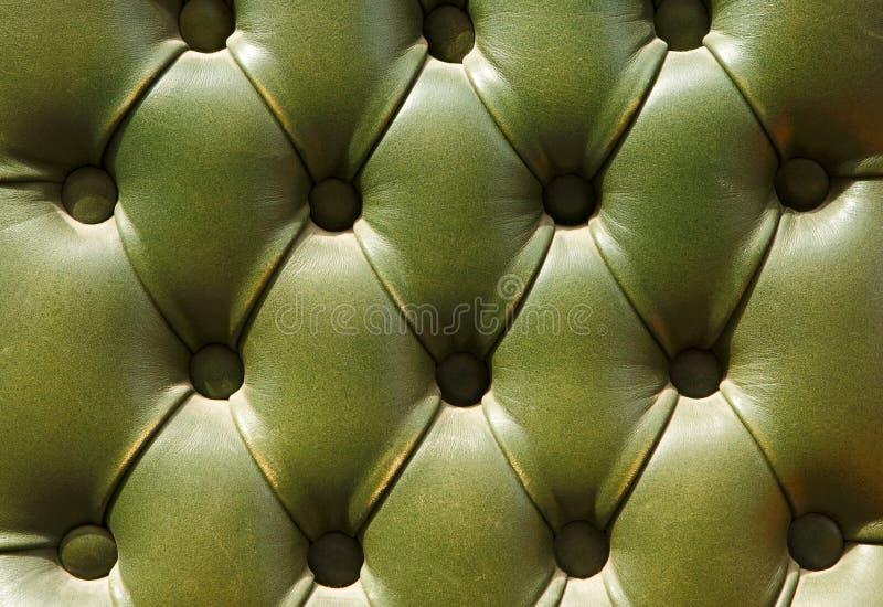 Modelo de la vieja textura de cuero verde de la tapicería fotos de archivo libres de regalías