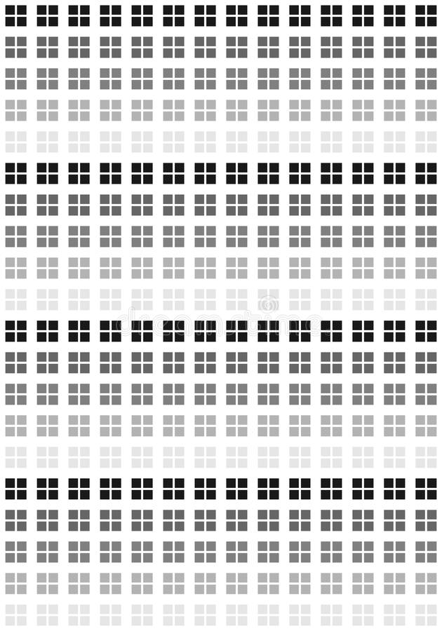Modelo de las casillas blancas negras y ilustración del vector