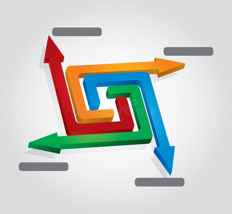 Modelo de las flechas stock de ilustración