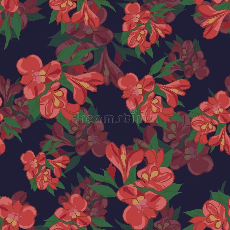 Modelo de las flores Iris stock de ilustración