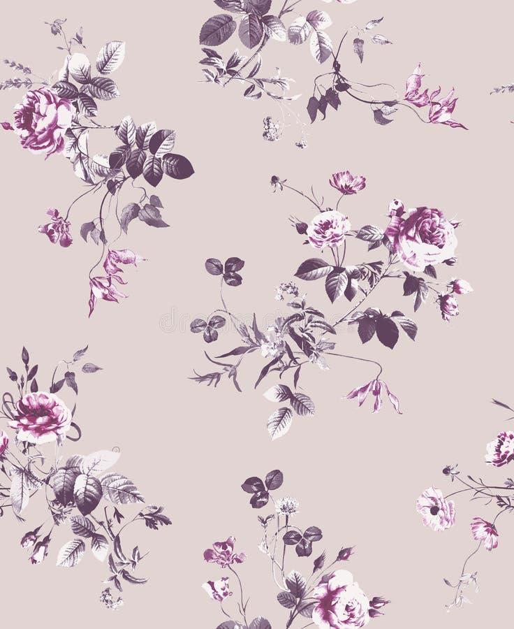 Modelo de las flores y de las ramas de la primavera libre illustration