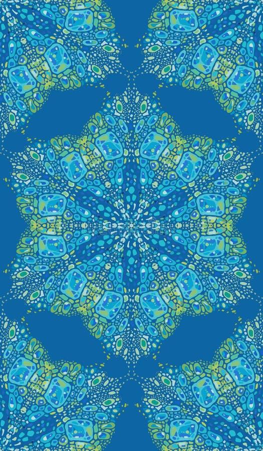 Modelo de las formas abstractas coloridas 2 de la mandala libre illustration