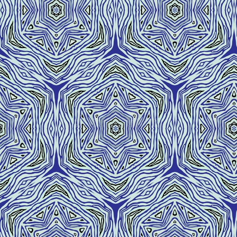 Modelo de las formas abstractas coloridas de la mandala stock de ilustración