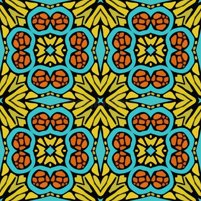 Modelo de las formas abstractas coloridas 7 de la mandala libre illustration