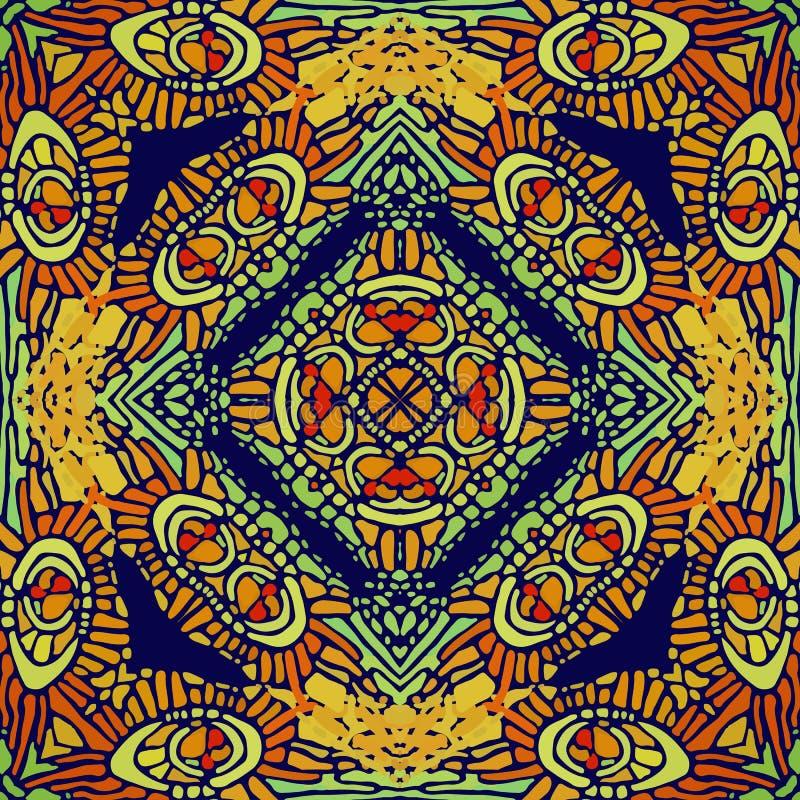 Modelo de las formas abstractas coloridas 9 de la mandala libre illustration