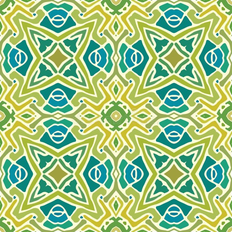 Modelo de las formas abstractas coloridas 4 de la mandala ilustración del vector