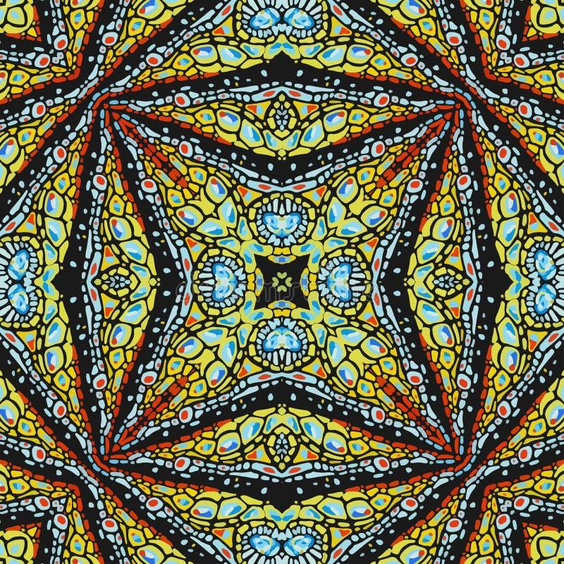 Modelo de las formas abstractas coloridas 3 de la mandala ilustración del vector