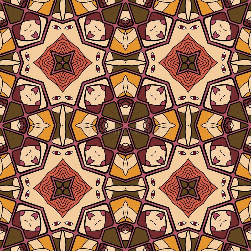 Modelo de las formas abstractas coloridas 17 de la mandala libre illustration