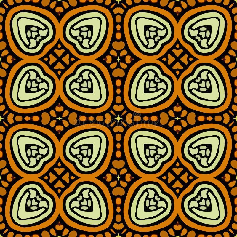 Modelo de las formas abstractas coloridas 5 de la mandala stock de ilustración