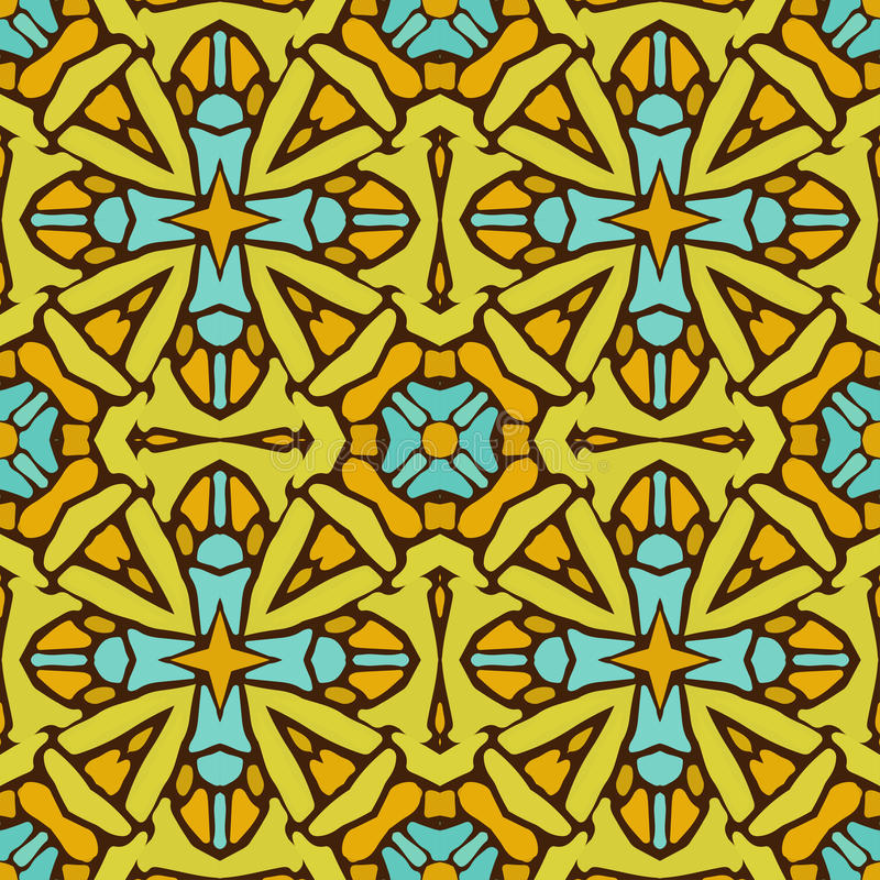 Modelo de las formas abstractas coloridas 6 de la mandala ilustración del vector