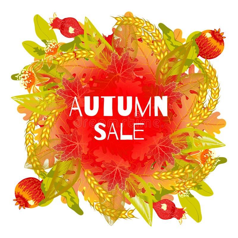 Modelo de las hojas de otoño ilustración del vector