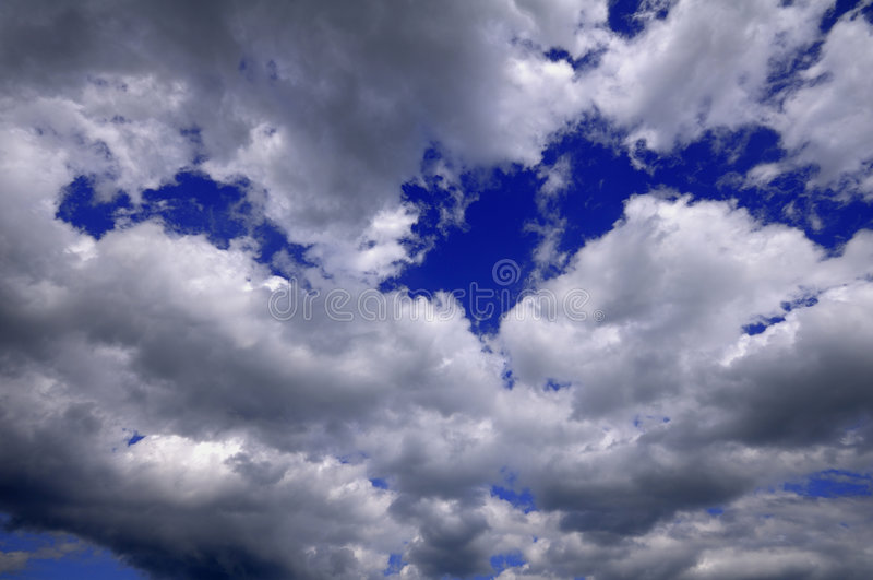 Modelo de las nubes imagen de archivo libre de regalías