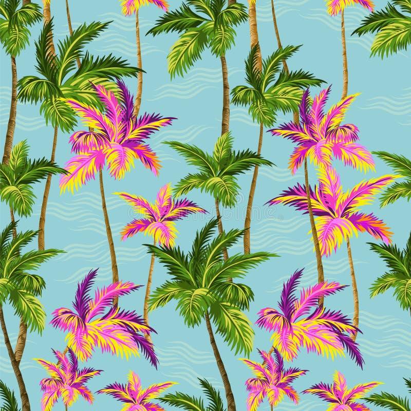 Modelo de las palmeras stock de ilustración