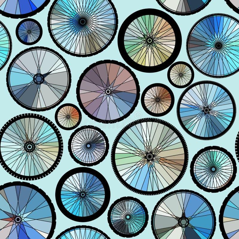 Modelo de las ruedas de los bycicles ilustración del vector
