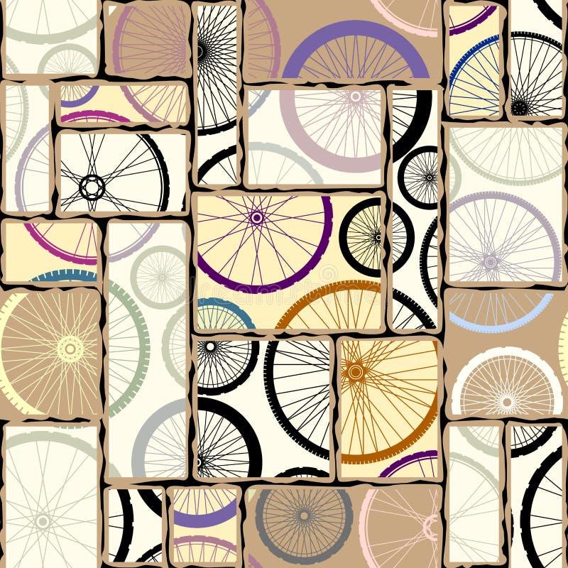 Modelo de las ruedas de los bycicles stock de ilustración