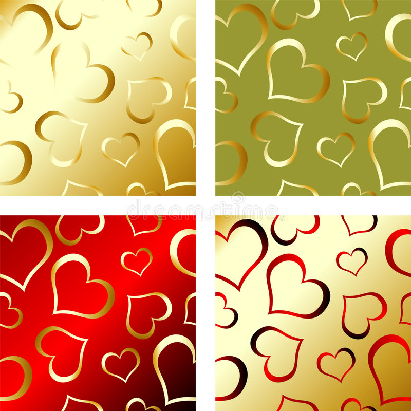 Modelo de las tarjetas del día de San Valentín ilustración del vector