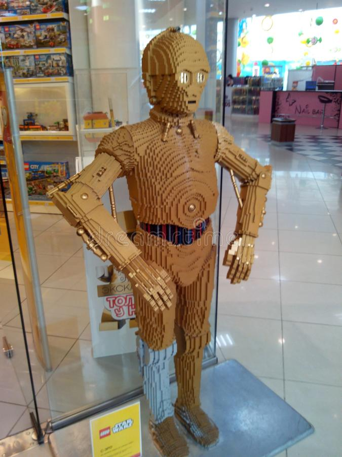 Modelo de Lego fotos de archivo