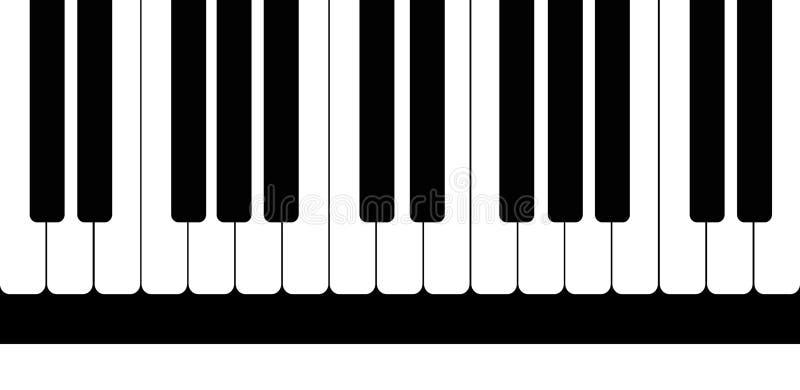 Modelo de llaves blancos y negros del piano Ilustración del vector libre illustration