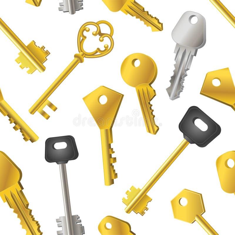 Modelo de llaves - fondo material moderno inconsútil del diseño stock de ilustración