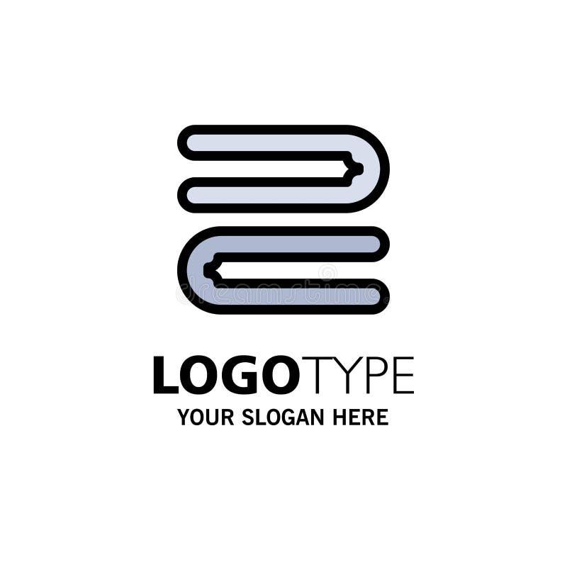 Modelo de logotipo da Towel Business Limpo, Clearing, Clearing, Towel Cor plana ilustração stock