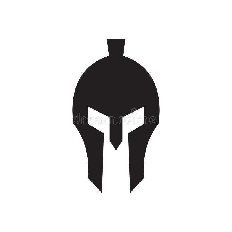 Modelo de logotipo do Spartan Gladiator ilustração stock