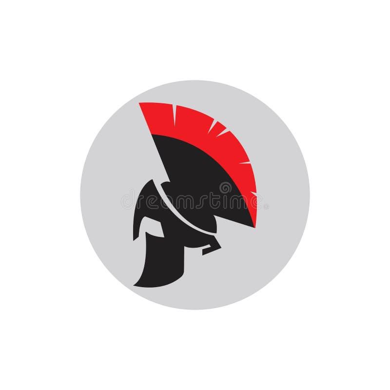 Modelo de logotipo do Spartan Gladiator ilustração do vetor