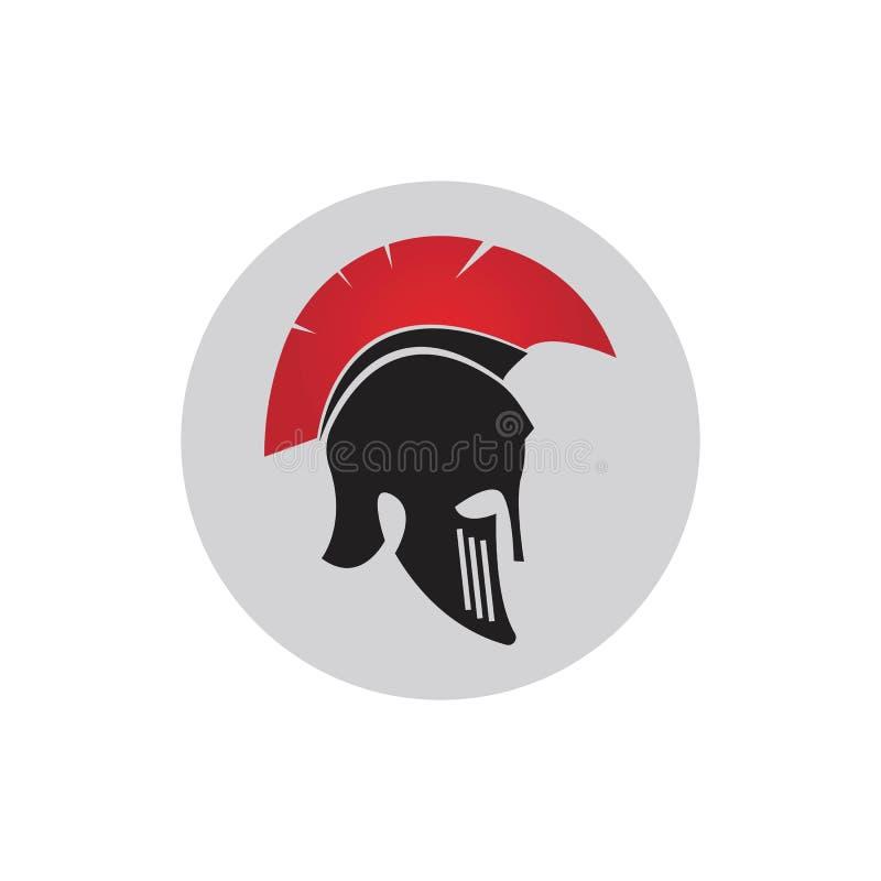 Modelo de logotipo do Spartan Gladiator ilustração royalty free