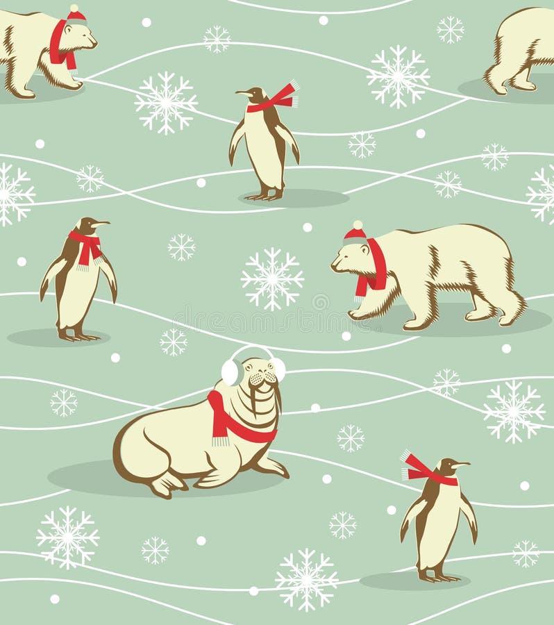 Modelo de los animales del invierno ilustración del vector