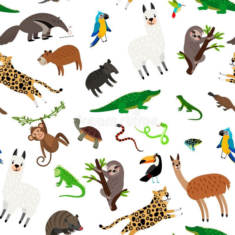 Modelo de los animales de Suramérica ilustración del vector