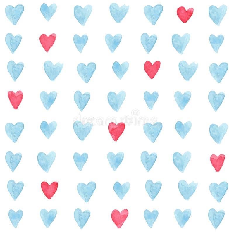 Modelo de los corazones ilustración del vector