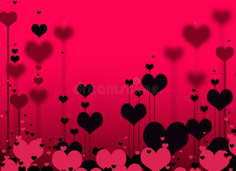 modelo de los corazones stock de ilustración