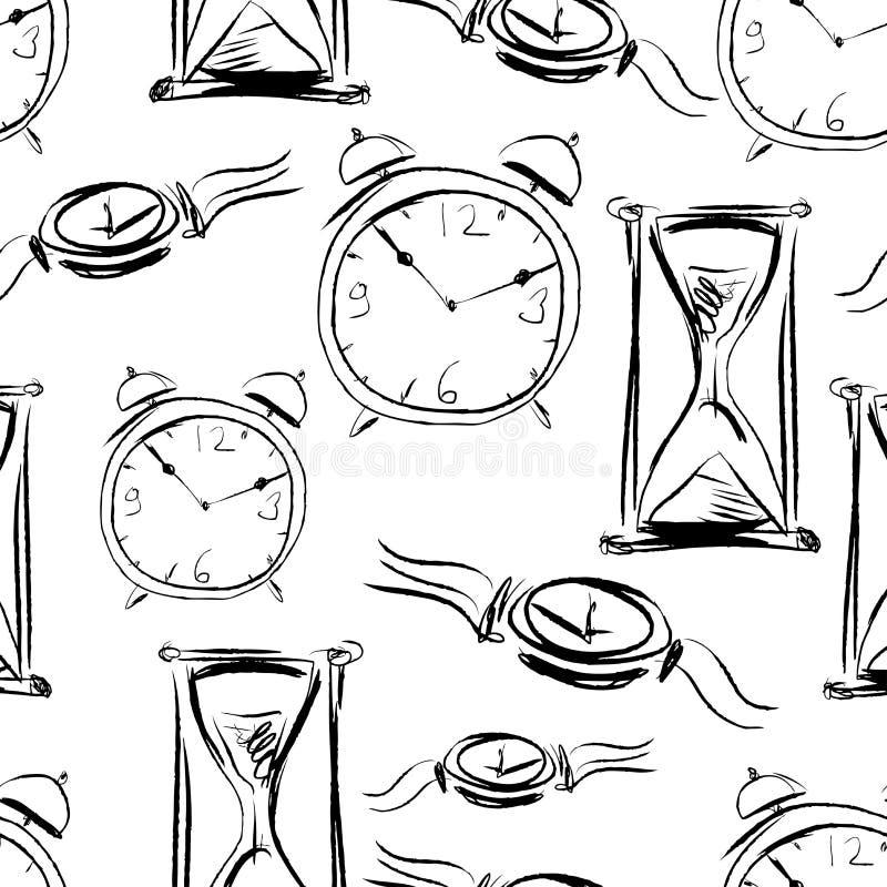 Modelo de los diversos relojes ilustración del vector