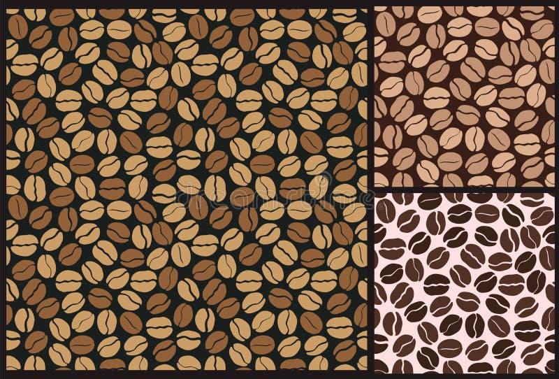 Modelo de los granos de café ilustración del vector