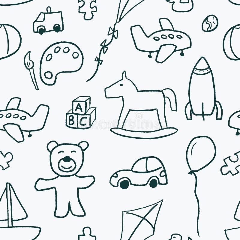 Modelo de los juguetes stock de ilustración