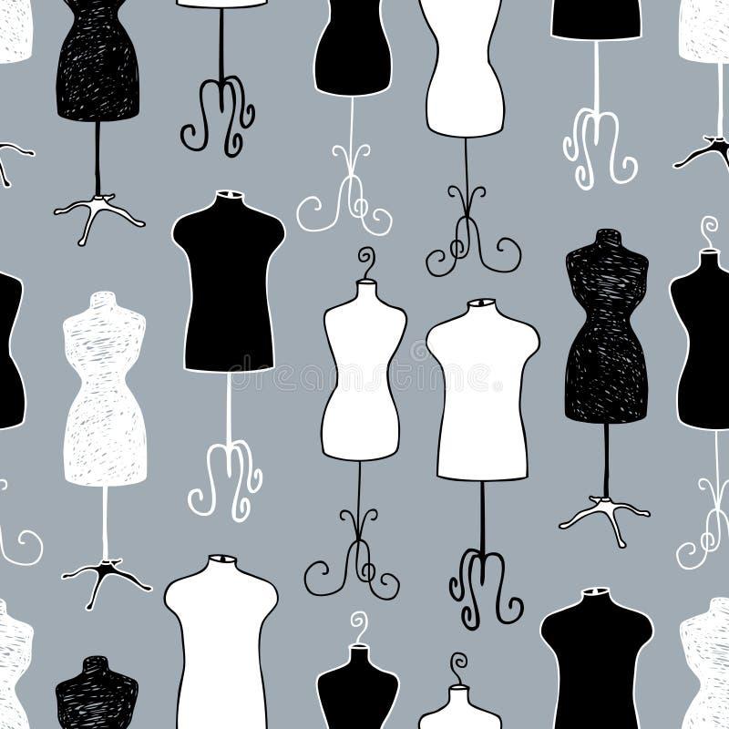 Modelo de los maniquíes masculinos y femeninos para adaptar libre illustration