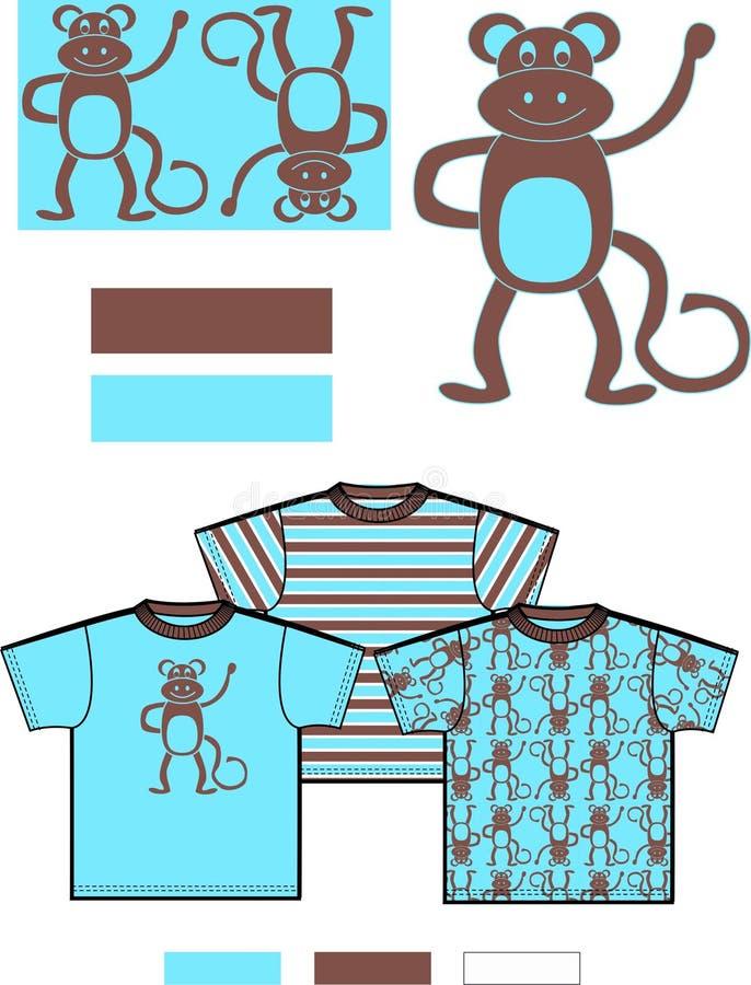 modelo de los niños del mono   libre illustration