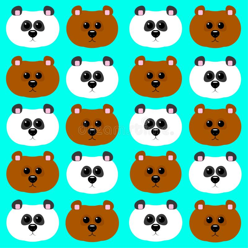 Modelo de los osos, de la panda y del grisáceo ilustración del vector