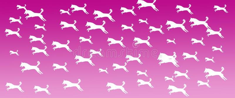 Modelo de los perros caseros del fondo del jefe en fondo de la pendiente de Mangeta stock de ilustración