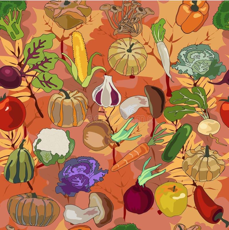Modelo de los productos del otoño stock de ilustración