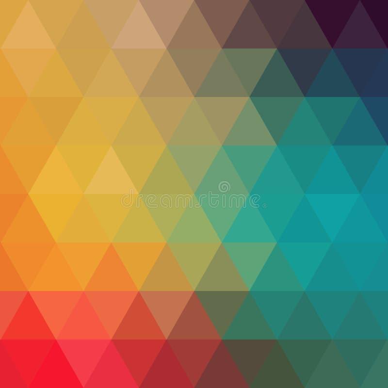 Modelo de los triángulos de formas geométricas Contexto colorido del mosaico stock de ilustración